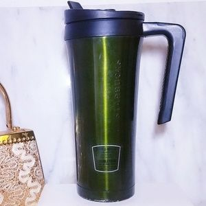 #328 Starbucks Stainless Steel Green Coffee Cup